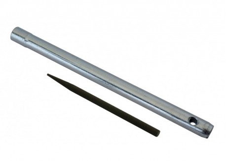 Cle bougie tube, lg 270mm, 16mm